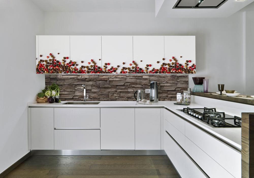 Szklane panele w kuchni - Szklane Panele Gliwice - Nadruki i grafiki na szkle laminowanym